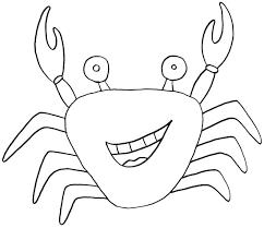 Cartoon Crab Coloring Pages Jpg 1100