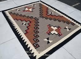 W Navajo Area Rugs Hand Woven Southwestern Wool In Heavy Duty Weave  Imported Style