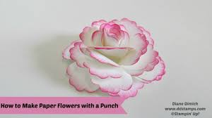 How To Create A Flower With Paper How To Make Paper Flowers Youtube