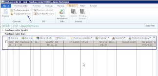 Prepaid Purchase Orders Management In Microsoft Dynamics Ax 2012 ...