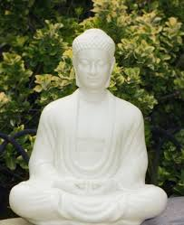 hand carved wood sitting buddha statue