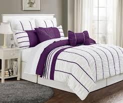 Simple Bedroom with 8 Piece Cal King Villa Purple White Bedding ... & Simple Bedroom with 8 Piece Cal King Villa Purple White Bedding Sets, 1  Piece Square Adamdwight.com