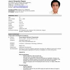 Sample Of Resume For Abroad Sample Resume For Filipino Nurses 19 Resume For Abroad Format