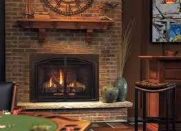 mantles clock and gas fireplaces on