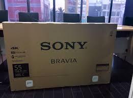 sony tv box. sony 4k tv box front view tv