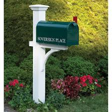 Decorations:Artistic White Green Mailbox Design Idea Artistic White Green  Mailbox Design Idea