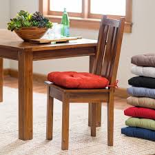 tufted kitchen chair cushion durable polyester fabric and filling inch thickness seat pad solid ties counter ideas fresh dining