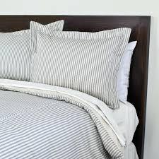 pinstripe duvet covers pinstripe set watercolor gray stripe 2 ticking stripe duvet cover striped duvet