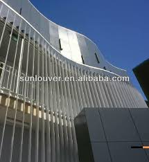 exterior louver. aluminum exterior vertical shutter louver with ellipse shape for facade