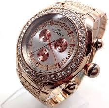 mens bling watches 179p men sparkly crystal bling wrist watch rose gold strap diamante silver dial