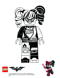 Harley Quinn Batman Lego Movie Coloring