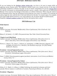 Apa Style Reference Listin Text Apa Reference List Pdf