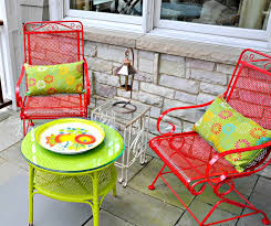 image of wrought iron patio furniture colors