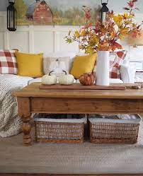 The candlesticks help to finish the fall vignette off and to keep the tray from looking lost on the coffee table. 72 Fall Coffee Table Decor Ideas Digsdigs