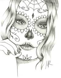 Small Picture sugar skull coloring pages free 95818printablecoloringpictures