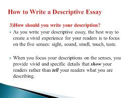 descriptive writing ppt video online how to write a descriptive essay