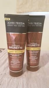 john friedas brilliant brunette visibly brighter shampoo and conditioner