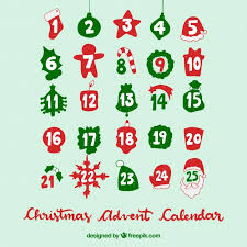 christmas calendar background. Christmas Advent Calendar On Turquoise Background Free Vector Intended