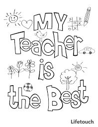 Teacher Appreciation Coloring Sheet Teacher Appreciation Teacher