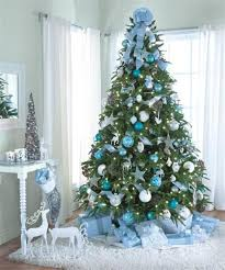 blue and silver christmas tree decorations blue christmas tree decorating  ideas