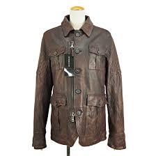 unread items intermezzo intermezzo lamb leather jacket 2405415510 brown 46 sheep leather leather military safari jacket sutenkara men s used rank s