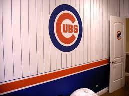 cubs room baseball bedroom