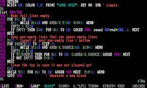 Basic Coding Language Writing A Tetris Clone In Gw Basic Tandy 1000 Programming Example