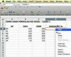 como calcular variação no excel you