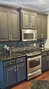kitchen cabinets painted with chalk paint ideas painting brush or spray beautiful annie sloan in graphite dark wax i