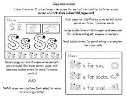 Jolly phonics programme in the junior infant classes we follow the jolly phonics programme to teach children letter names, sounds and letter formation for each. Jolly Phonics Letter Formation Practice Sheets Jolly Phonics Letter Formation Practice Phonics