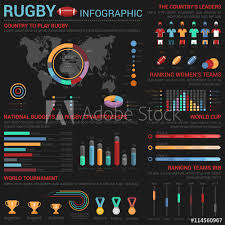 Rugby Or American Football Infographic Template With Medals