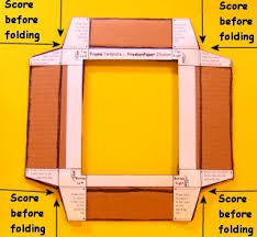 Paper Picture Frame Templates Instructions Step 4 Frankenpaper Head In A Box Illusion 1 0 Paper
