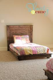 diy twin platform bed. DIY Platform Beds - $30 Pottery Barn Inspired Twin Bed Easy Do It Yourself Diy L