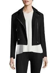 helmut lang stretch cotton biker jacket black women s jackets vests motos ers