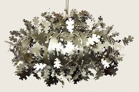 oak leaf pendant light
