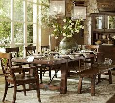 benchwright extending dining table pottery barn big heavy wooden table perfect for holidays and big family dinners