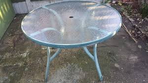 vintage round patio metal garden table and chair set 4 armchairs 1 table
