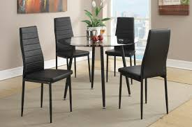 Retro Style Kitchen Table Retro Style 5pcs Metal Round Dining Table Set In Black F2203
