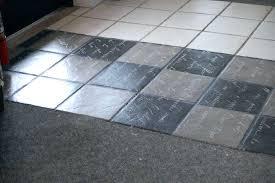 how to paint a vinyl tile floor using caulk repair holes in