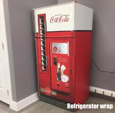 Vending Machine Wraps New Coca Cola Vending Machine Refrigerator Wrap Signs Pinterest