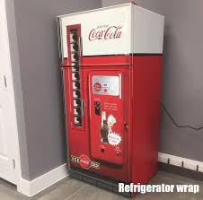 Vending Machine Fridge Classy Coca Cola Vending Machine Refrigerator Wrap Signs Pinterest
