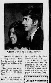 Wendy Dunn and James Pettit wed 23 Nov 1969 - Newspapers.com