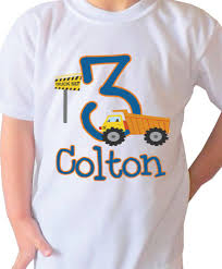 Birthday Design Shirts Truck Design Kids Birthday Shirt Personalized With Your