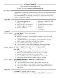 Entry Level Office Assistant Resumes Admin Assistant Resume Examples Mmventures Co