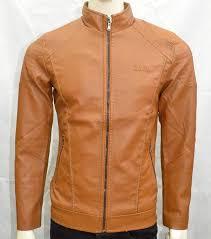 men boys faux leather jacket casual warm winter stylish jacket brown