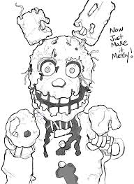 Spring Bonnie Coloring Pages Fnaf Coloring Pages Springtrap