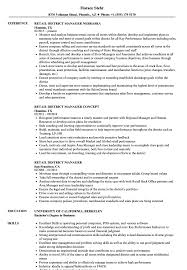 District Manager Resume Examples Retail District Manager Resume Samples Velvet Jobs 9