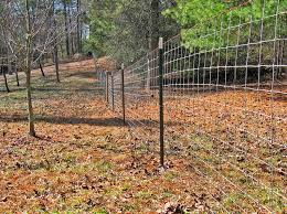 metal farm fence. 4x4 Red Brand Goat Wire On Metal T-post Farm Fence C