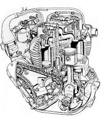 ariel motorcycles a two pipe 4g mk i engine compared a four pipe 4g mk ii engine