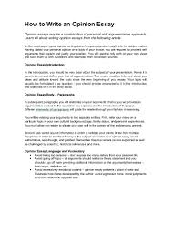 Example Of Opinion Essays How To Write An Opinion Essay Pdf Sample Essay